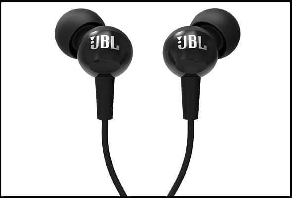 JBL C100SI In-Ear Deep Bass Headphones with Mic (Black)